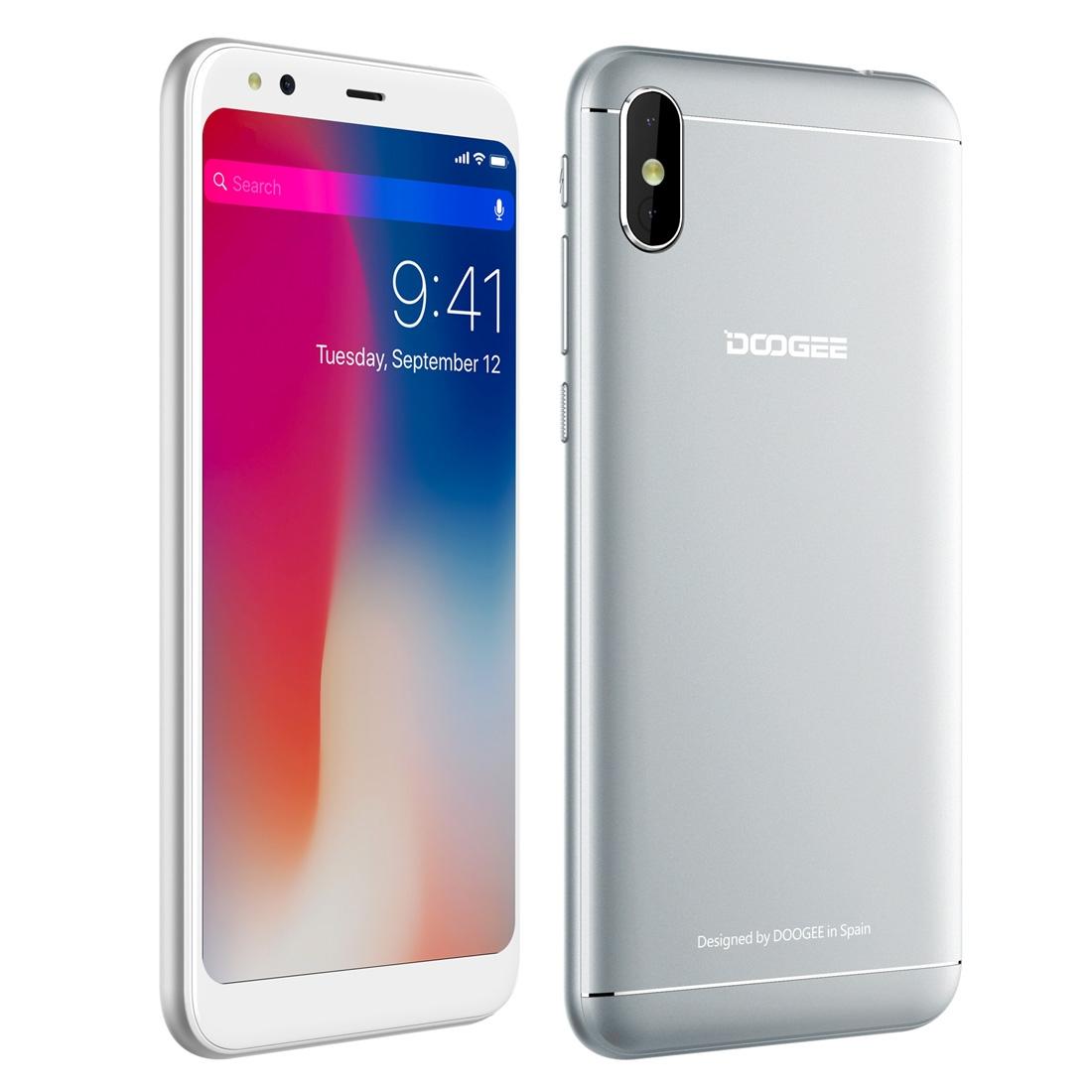 Проектор Смартфон DOOGEE X53 1GB+16GB Двойная задняя камера 5.3 дюйма Android 7.0 MTK6580M 4 ядра до 1.3GHz 3G OTA Две SIM (Серебряный) (Фото 3)