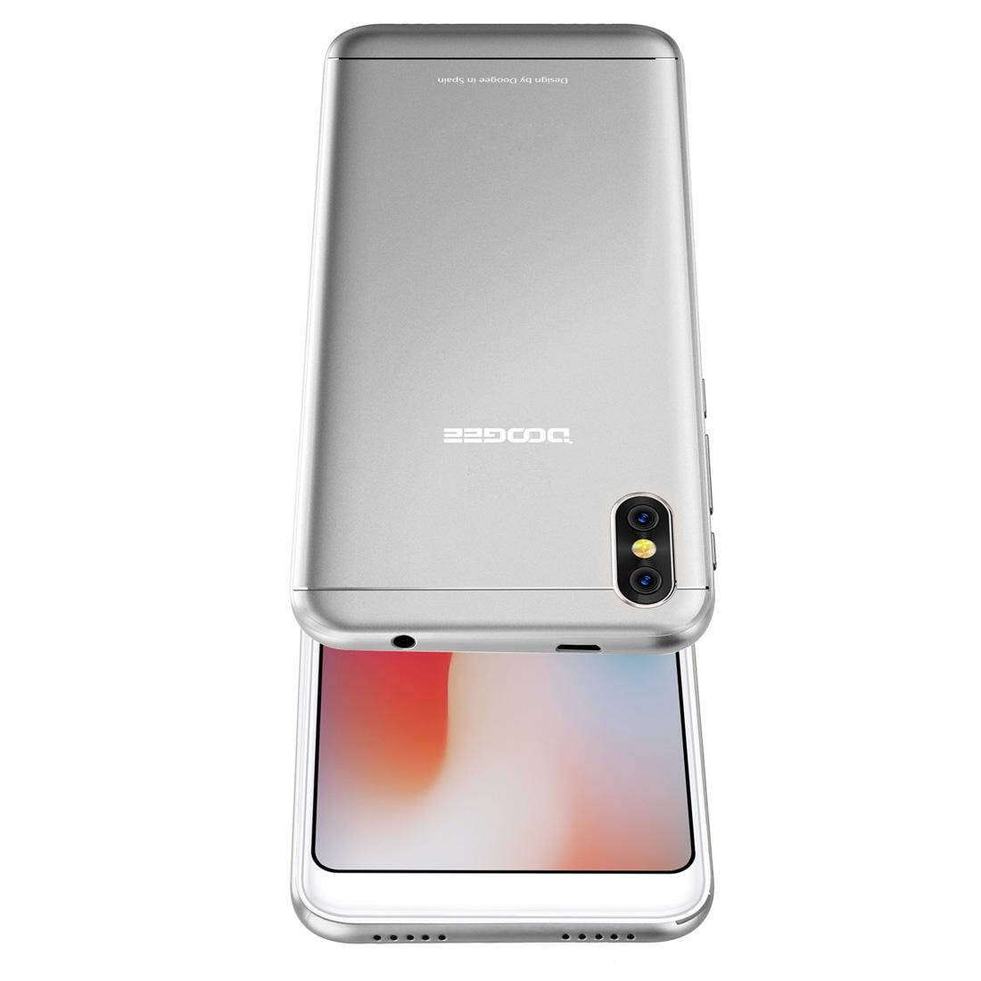 Проектор Смартфон DOOGEE X53 1GB+16GB Двойная задняя камера 5.3 дюйма Android 7.0 MTK6580M 4 ядра до 1.3GHz 3G OTA Две SIM (Серебряный) (Фото 4)