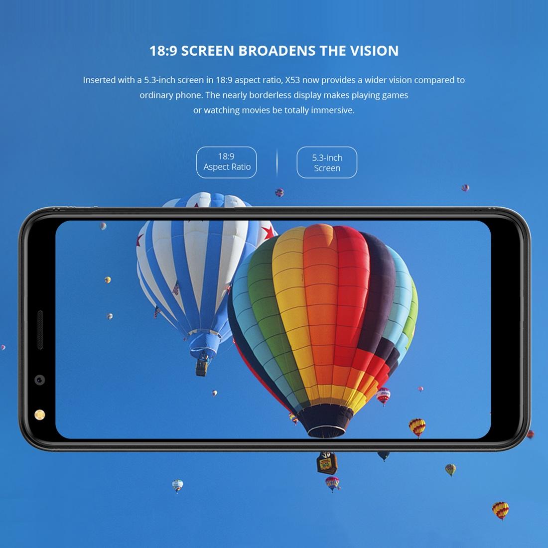 Проектор Смартфон DOOGEE X53 1GB+16GB Двойная задняя камера 5.3 дюйма Android 7.0 MTK6580M 4 ядра до 1.3GHz 3G OTA Две SIM (Серебряный) (Фото 6)