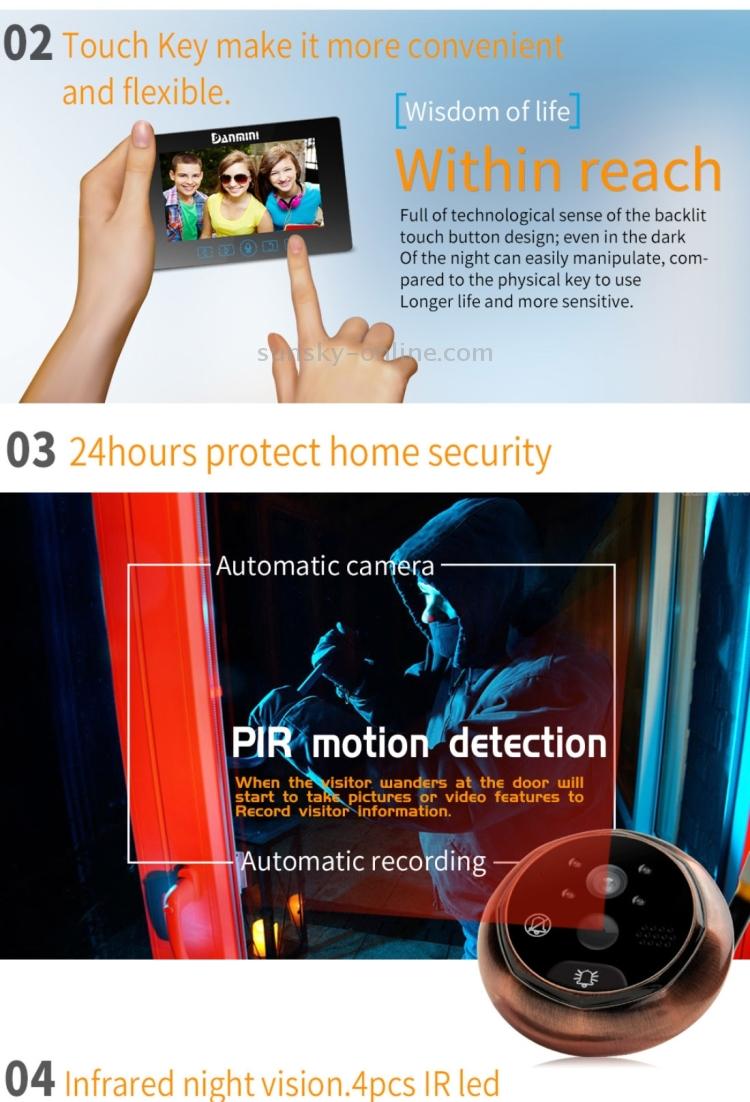Sunsky Danmini Yb 43hd Mt 43 Inch Screen 30mp Security Camera No Basic Tachometer Circuit Using An Ir Led Receiver Couple Acs0138b