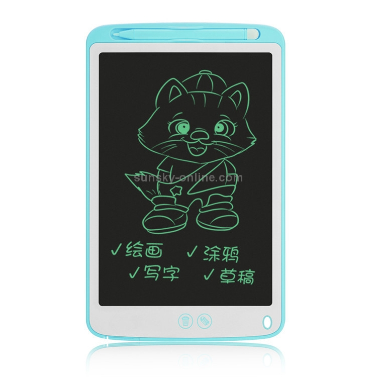 Drawing Accessories 8.5-inch LCD Writing Tablet Black Supports One-Click Clear /& Local Erase Color : Black Digital Drawing Board