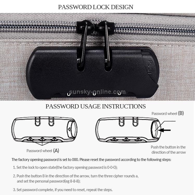 with Password Lock Laptop Bag Computer Bag Black Color : Black LUOKANGFAN LLKKFF Laptop Accessory ZJ01 Waterproof Polyester Multi-Layer Document Storage Bag Laptop Bag of Laptops