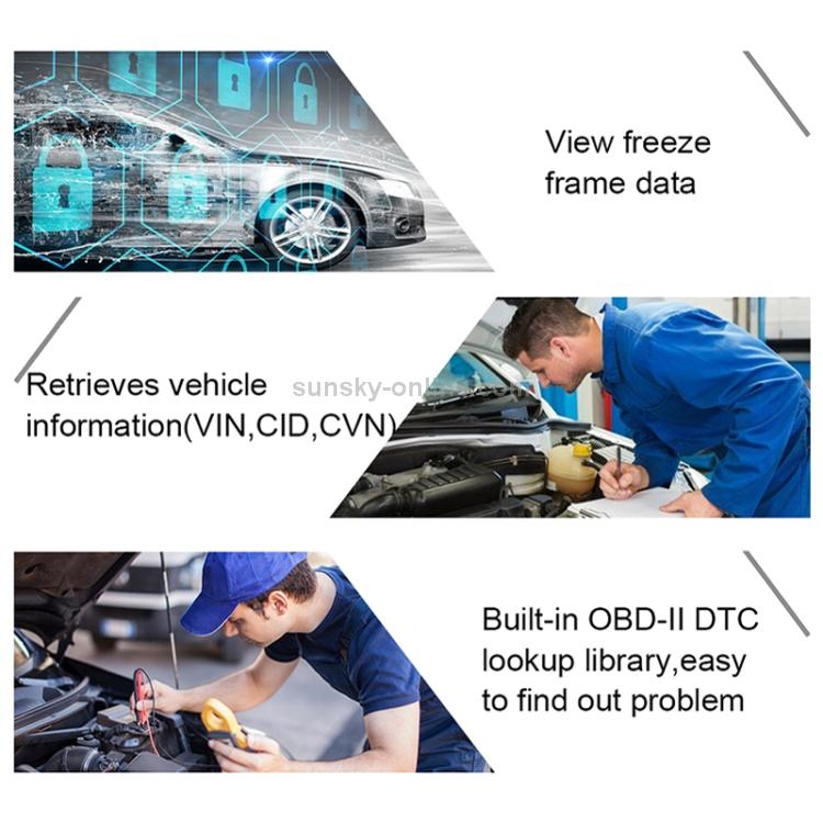 OM123 Car Portable OBD2 Scanner Car Diagnostic Tool OBD 2 Automotive