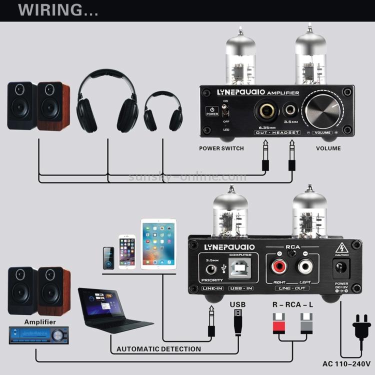 6J9 Vacuum Tube Headphone Amplifier HiFi USB ASIO Sound Card LINEPAUDIO A962