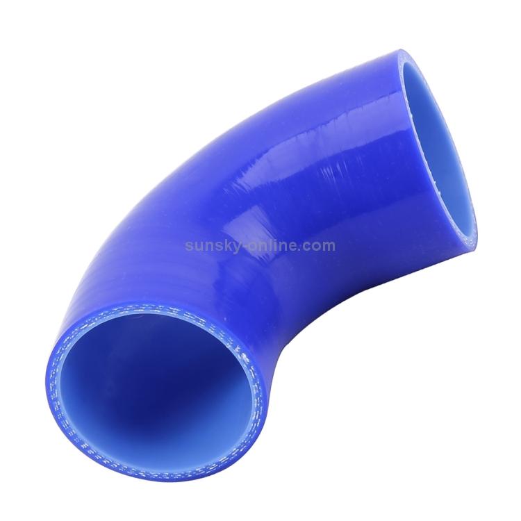 Manguera Codo Reductor de Silicona Negro 90 UK 76 a 63 mm
