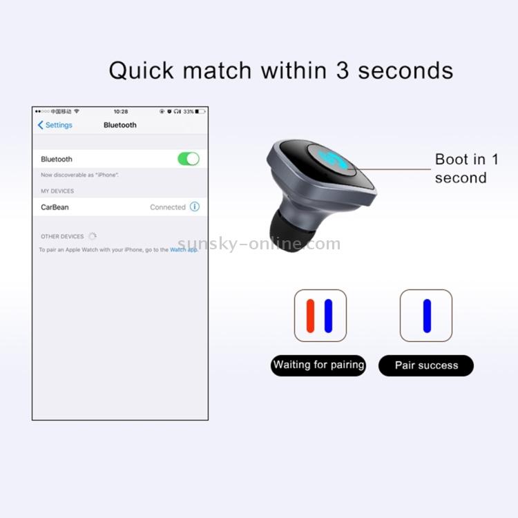 Sunsky 2 In 1 Wireless Bluetooth 4 0 Stereo In Ear