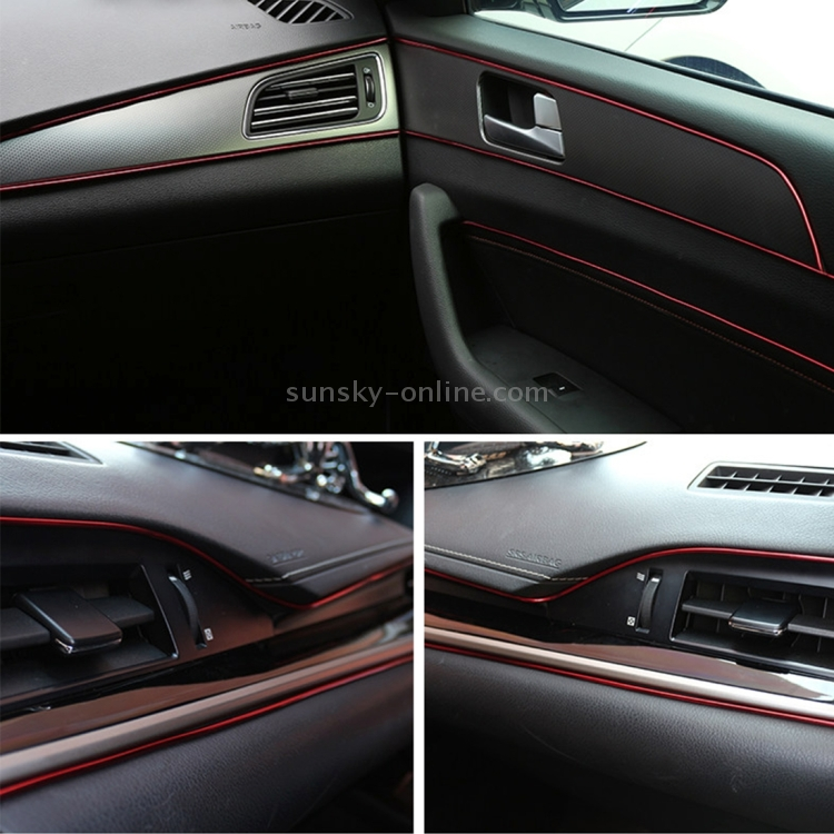 sunsky 5m flexible trim for diy automobile car interior exterior moulding trim decorative line. Black Bedroom Furniture Sets. Home Design Ideas