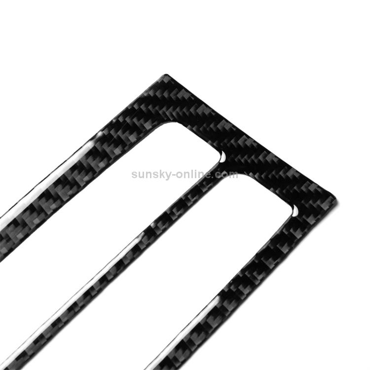 f/ácil de Instalar Durable y Ligero Panel Decorativo de Salida de Aire Posterior de Fibra de Carbono for Audi A3