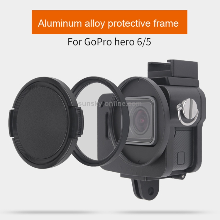 //7 Black //6//5 Durable 2018 Color : Gold Housing Shell CNC Aluminum Alloy Protective Cage with Insurance Frame for GoPro Hero