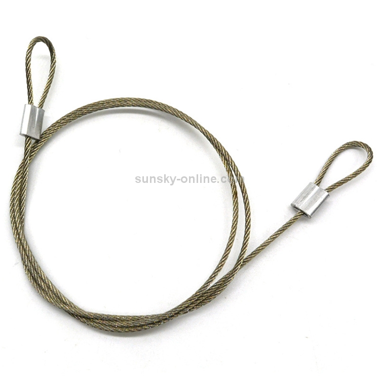 Screw for GoPro HERO5 4 Session 60 cm Safety Stainless Steel Lanyard Tether