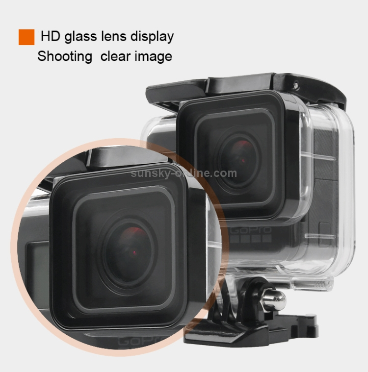 GP413 Durable Hollow Back Cover with Buckle Basic Mount /& Screw No Need to Disassemble Lens CAOMING for GoPro New Hero //HERO6//5 30m Waterproof Housing Protective Case