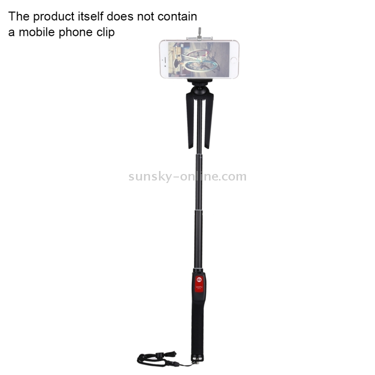 Digital Cameras GoPro Sports Cameras Camera Accessories Letspro LY-11 3 in 1 Handheld Tripod Self-Portrait Monopod Extendable Selfie Stick with Remote Shutter for Smartphones