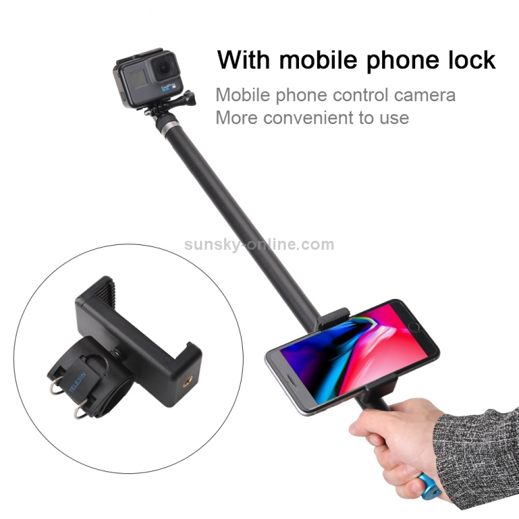 Xiaoyi Sport Cameras Multi-functional Foldable Tripod Holder Bluetooth Remote Control Selfie Stick Monopod for GoPro HERO7 //6 //5 Session //5 //4 Session //4 //3+ //3 //2 //1 Durable Length: 19-93cm Blue