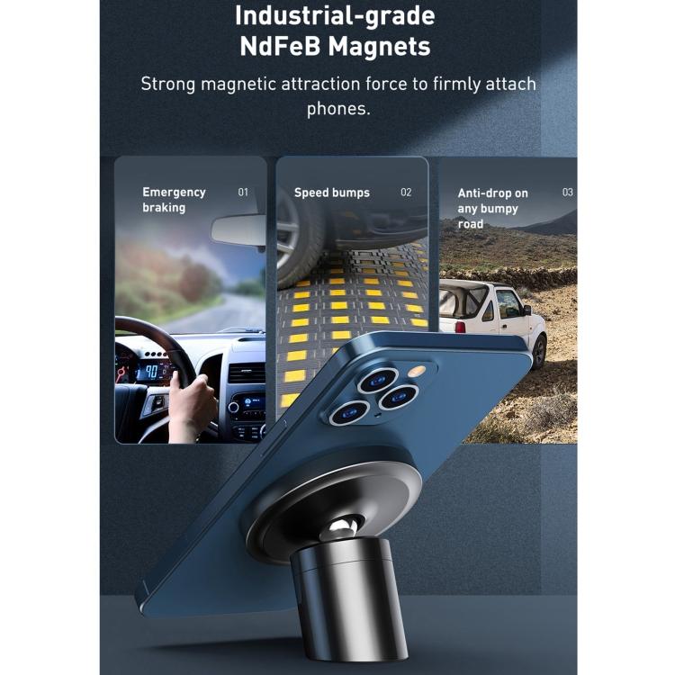 SUNSKY - Baseus SULD-01 Car Dashboard Air Outlet Magnetic Mobile Phone Bracket Holder(Black)