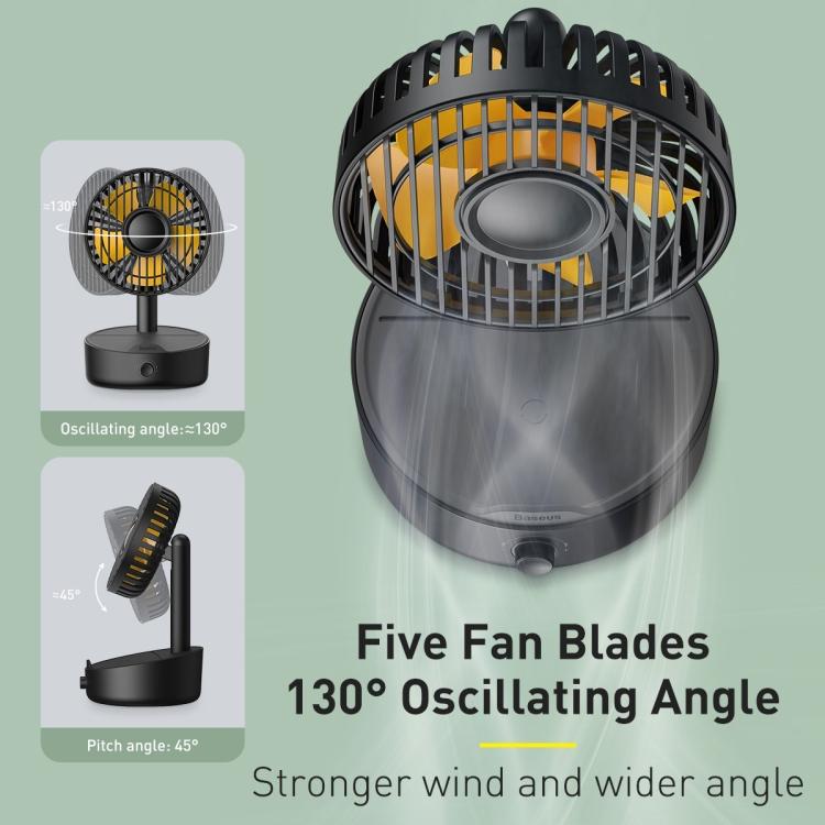 Baseus Hermit Desktop Wireless Charger with Oscillating Fan 8