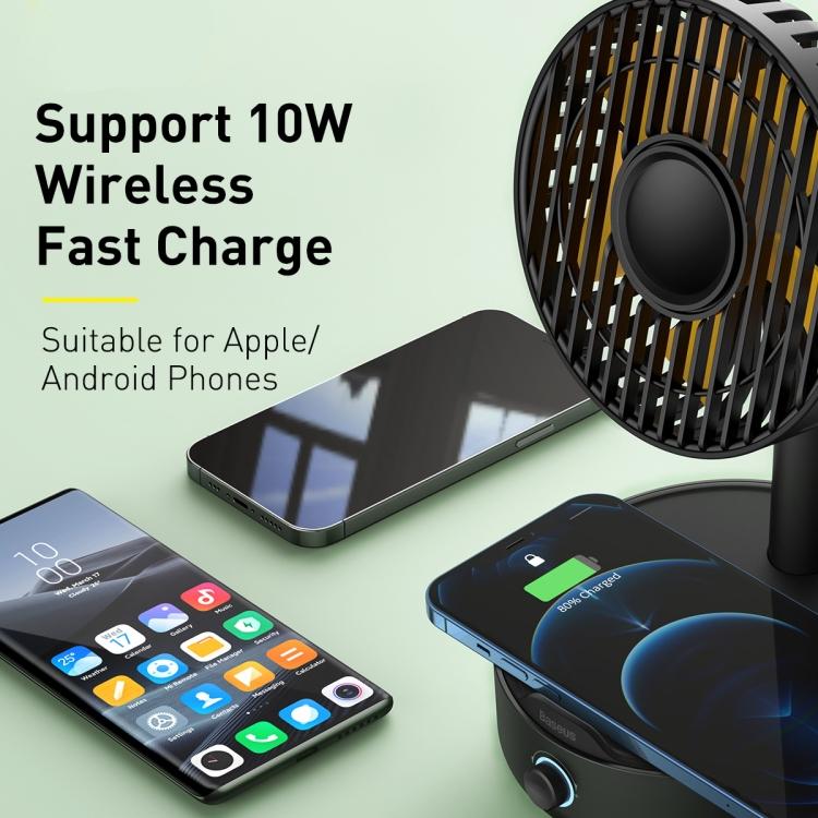 Baseus Hermit Desktop Wireless Charger with Oscillating Fan 9