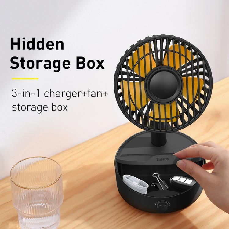 Baseus Hermit Desktop Wireless Charger with Oscillating Fan 11