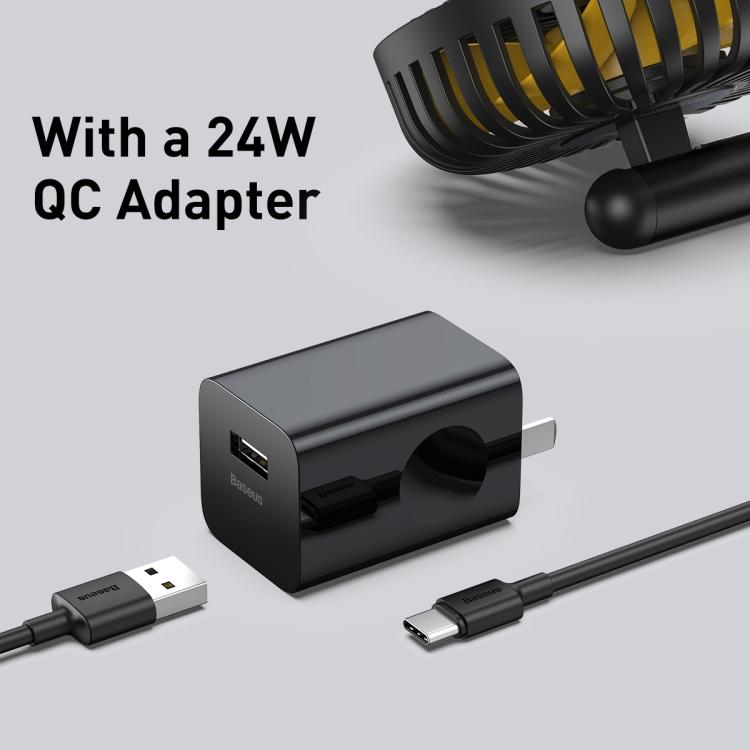 Baseus Hermit Desktop Wireless Charger with Oscillating Fan 12