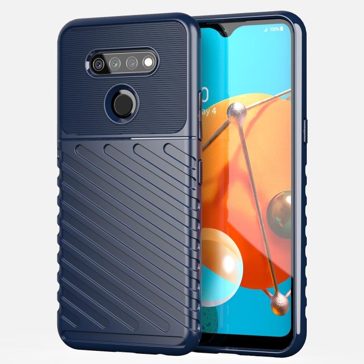 For LG K51 Thunderbolt Shockproof TPU Protective Soft Case(Blue)