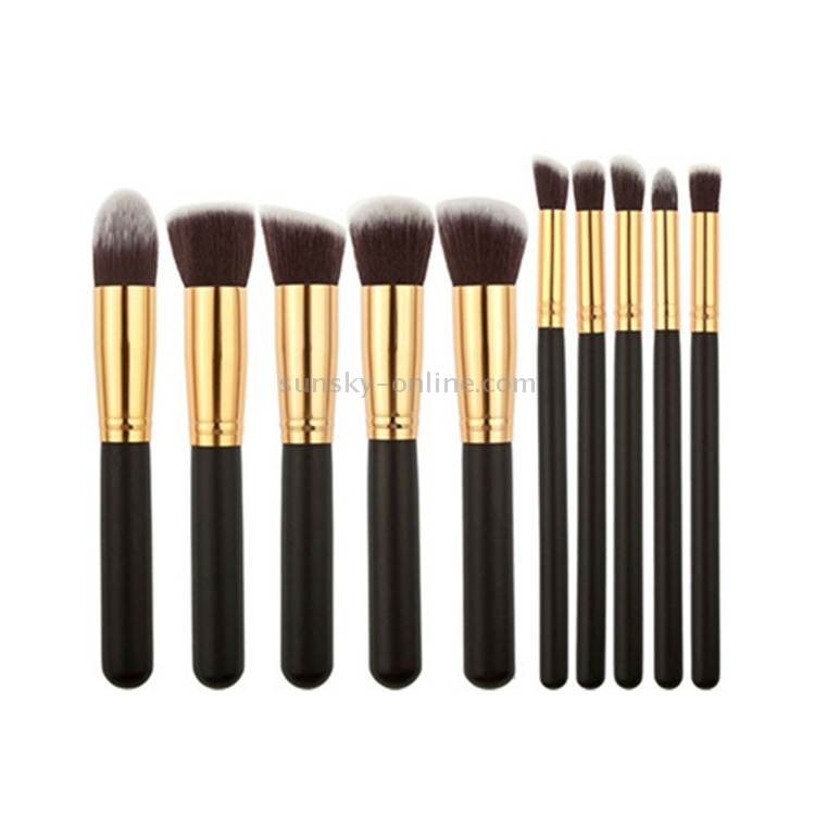 Makeup brushes set clicks