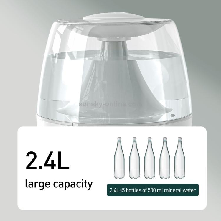 SUNSKY - Baseus DHYN-02 Surge 2.4L Desktop Humidifier Diffuser Aroma Mist  Nebulizer(White)