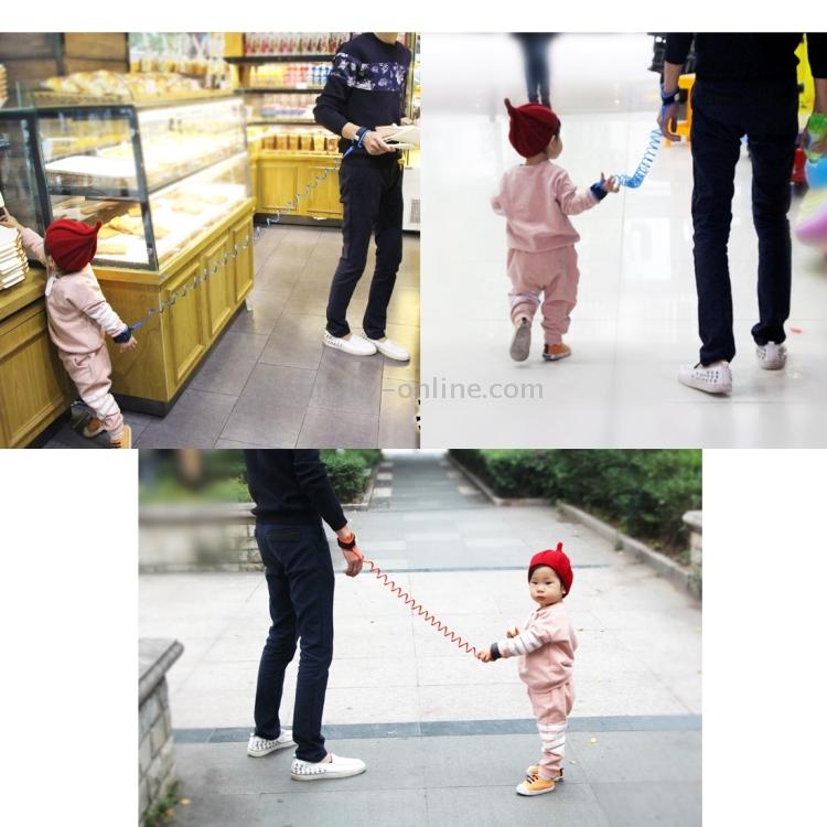 SUNSKY - Kids Safety Harness Child Leash Anti Lost Wrist Link Traction Rope Anti  Lost Bracelet, Length: 2.5m(Orange)
