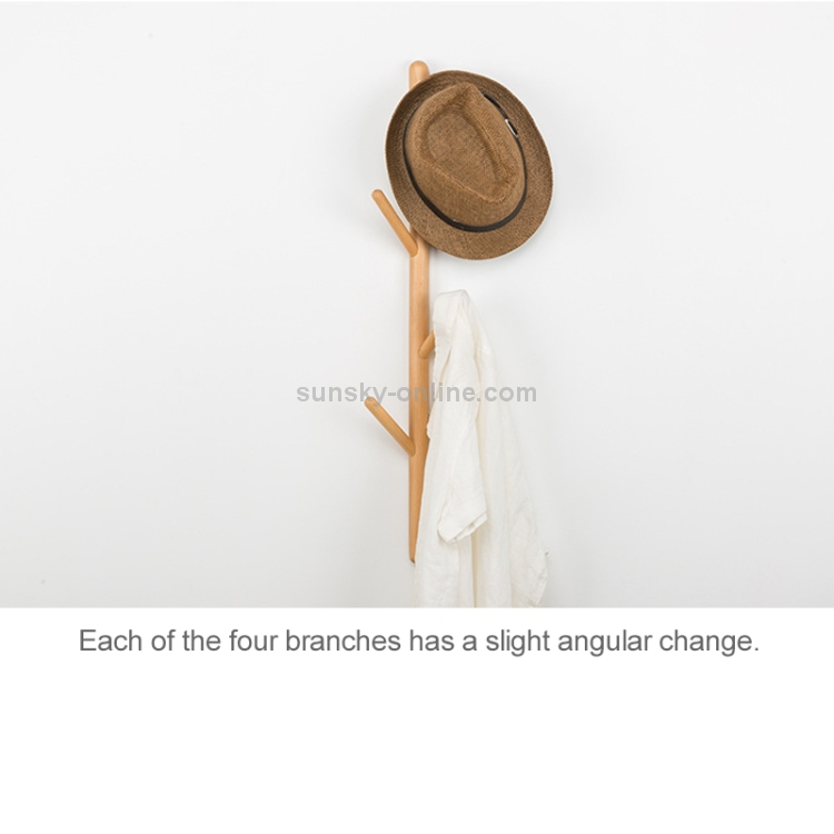 Creative Tree-shaped Solid Wood Floor Hatstand Clothes