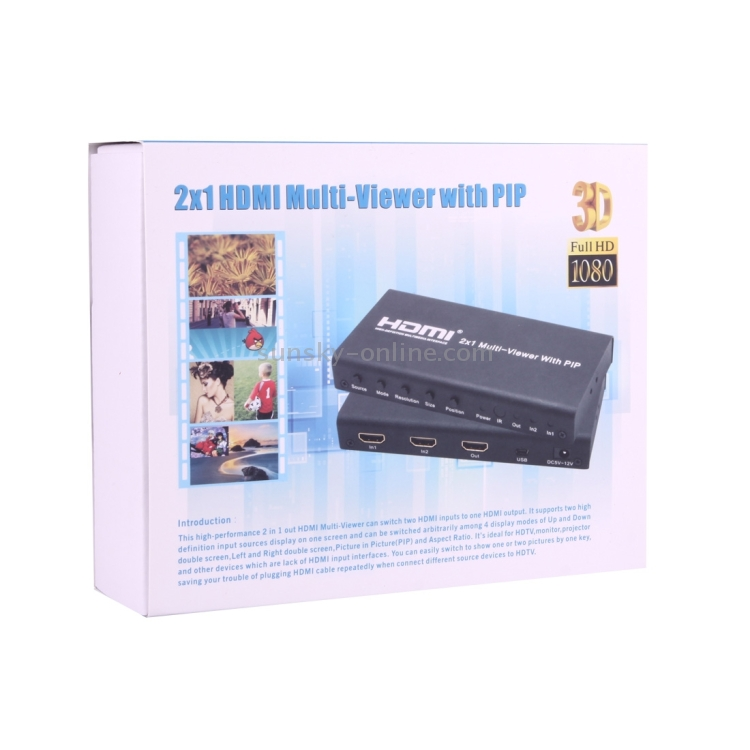 SUNSKY - Mini 2x1 HDMI Multi Viewer Switcher with PIP