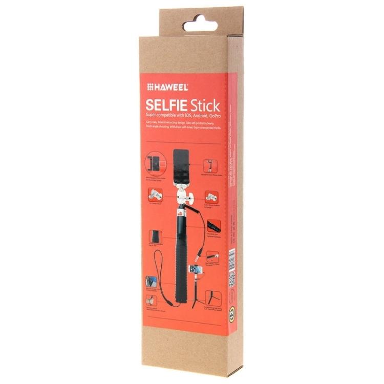 sunsky haweel wire control extendable handheld selfie monopod with tripod holder clamp mount. Black Bedroom Furniture Sets. Home Design Ideas