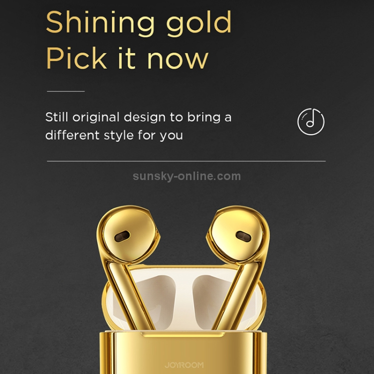SUNSKY - JOYROOM T03S Bluetooth 5.0 Pride Version Binaural TWS Bluetooth  Earphone(Gold)
