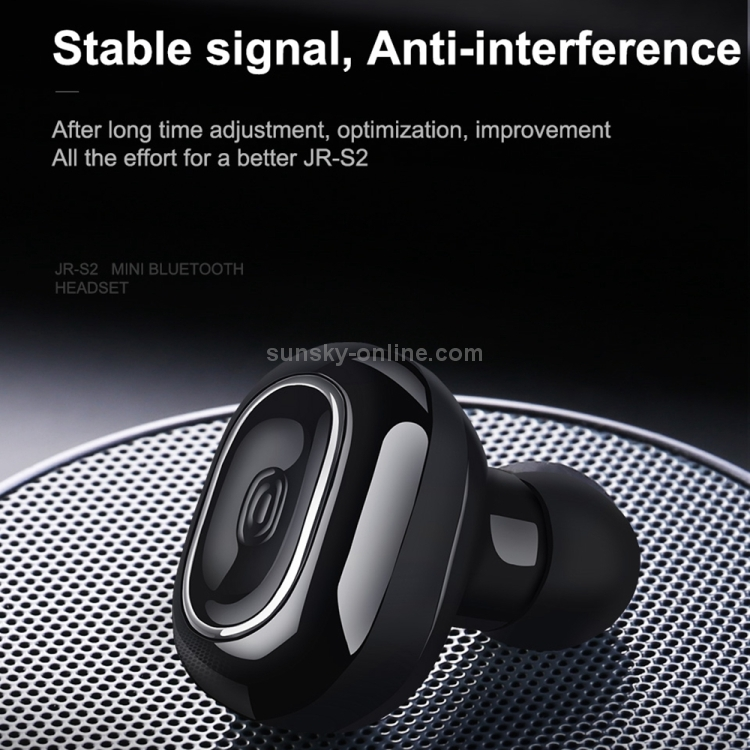 SUNSKY - JOYROOM JR-S2 Ultra-light Mini PEEK + PU Single Wireless Bluetooth Earphones with Mic