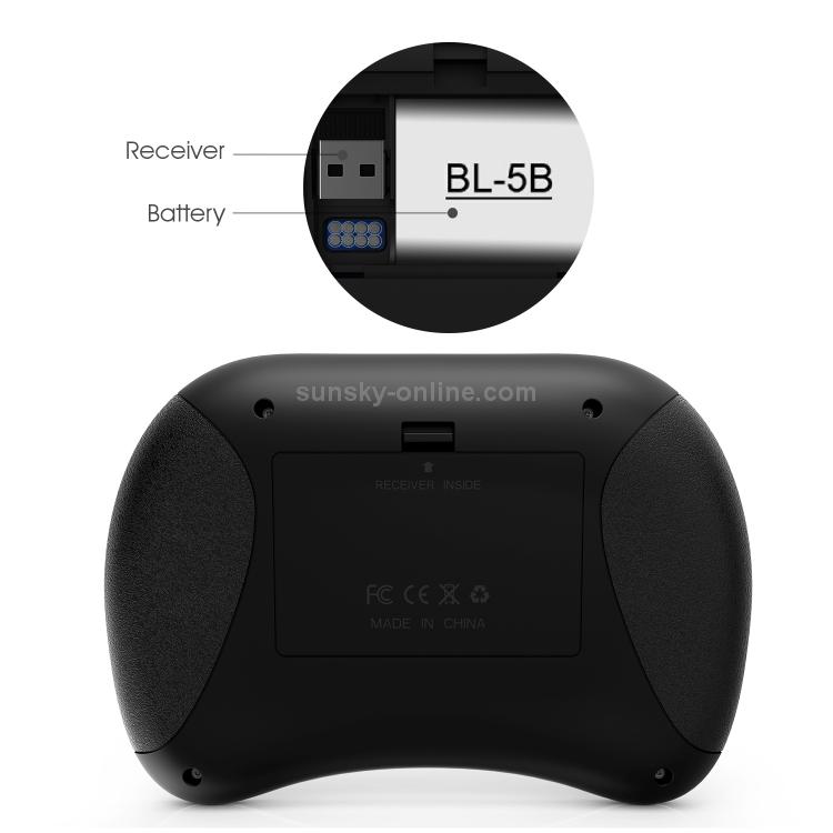 586f66e9336 SUNSKY - Rii X8 RT716 2.4GHz Mini Wireless QWERTY 71 Keys Keyboard