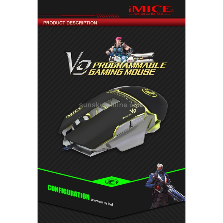 a5b565da3a5 SUNSKY - iMICE V9 USB 7 Buttons 4000 DPI Wired Optical Colorful ...