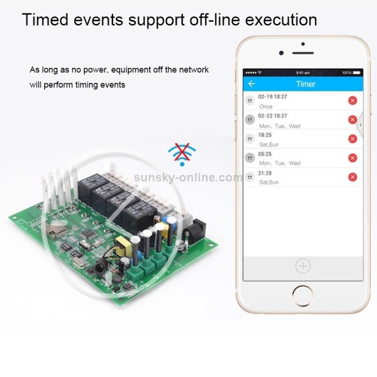 Sunsky Sonoff 4ch R2 Rail Mounting Remote Control Wifi