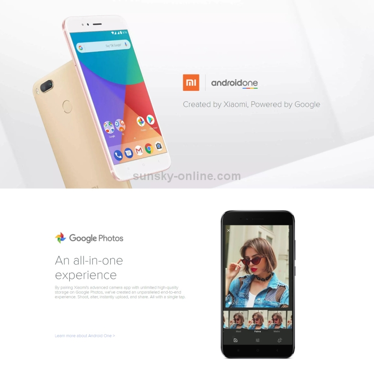 SUNSKY - [HK Stock] Xiaomi Mi A1, 4GB+32GB, Global Official Version