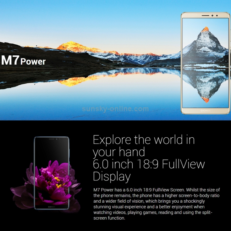 SUNSKY - Gionee M7 Power, 4GB+64GB, Not Support Google Play