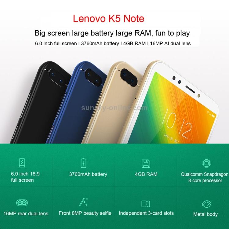 Lenovo K5 Note, 3GB 32GB Lenovo K5 Note, 3GB+32GB - Lenovo