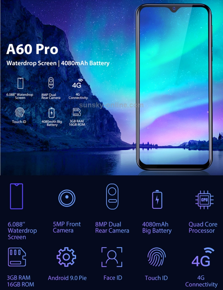 HK Stock] Blackview A60 Pro, 3GB+16GB