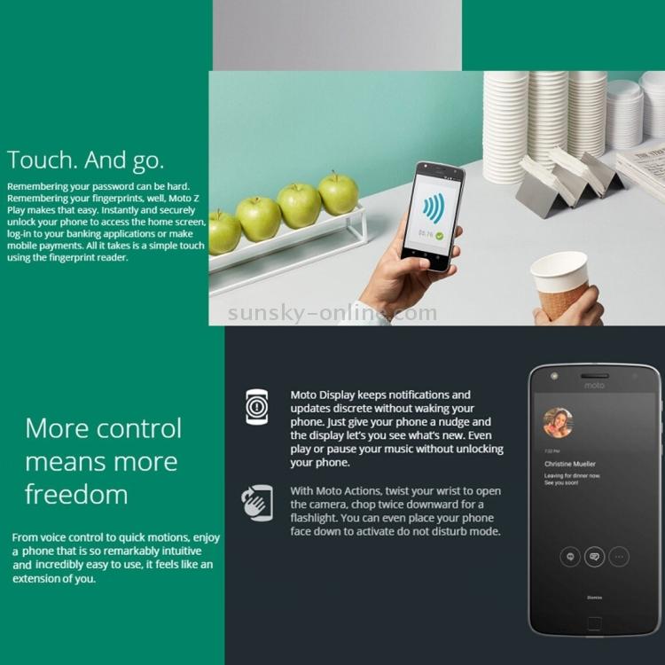 SUNSKY - Motorola Moto Z Play XT1635, 3GB+64GB