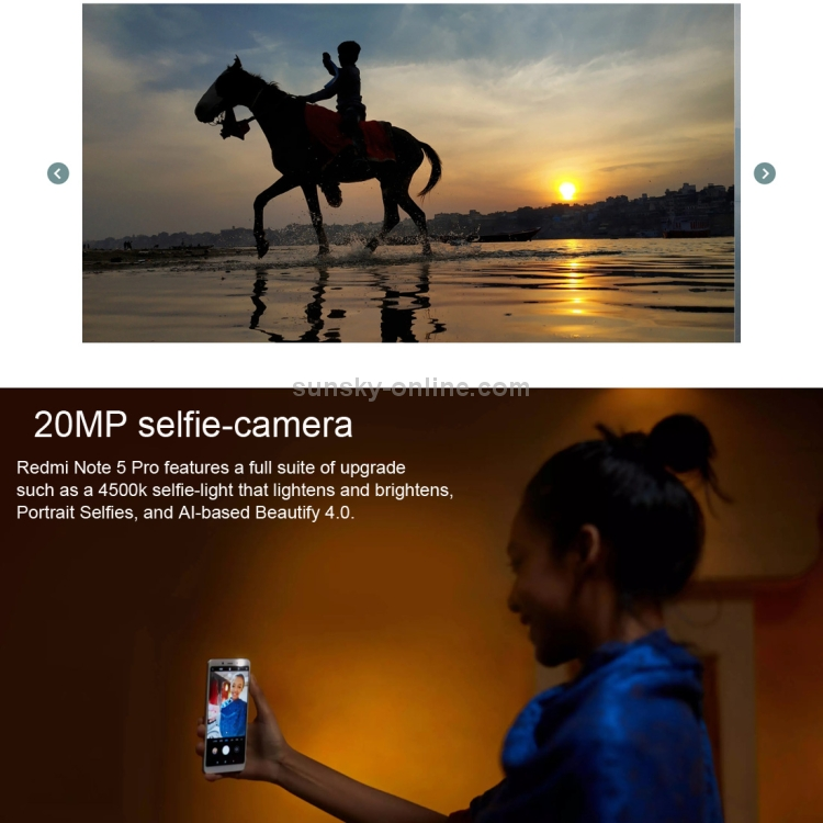 SUNSKY - [HK Stock] Xiaomi Redmi Note 5, 3GB+32GB, Official Global