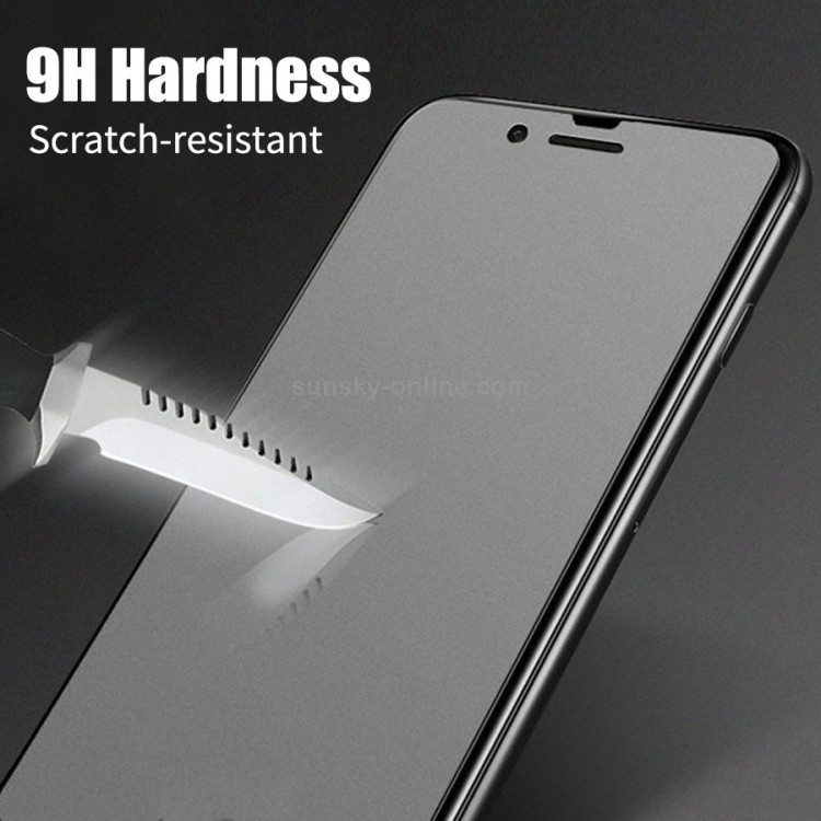 LGYD 50 PCS Non-Full Matte Frosted Tempered Glass Film for Huawei Honor 20i No Retail Package
