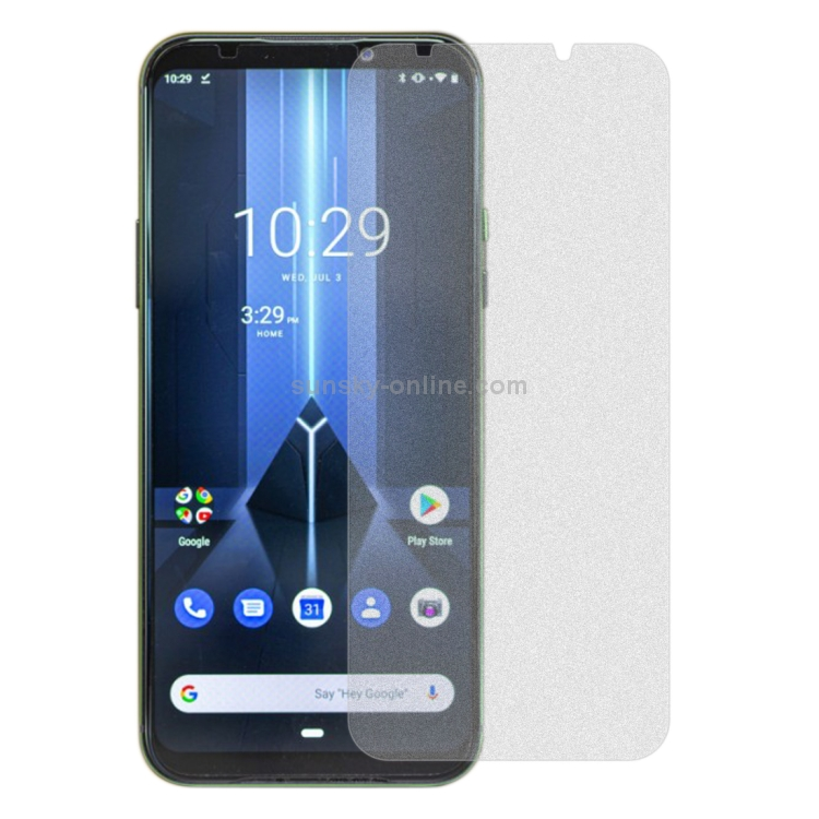 GUOHUN Screen Protector Protective 50 PCS Non-Full Matte Frosted Tempered Glass Film for Xiaomi Black Shark No Retail Package Glass Film