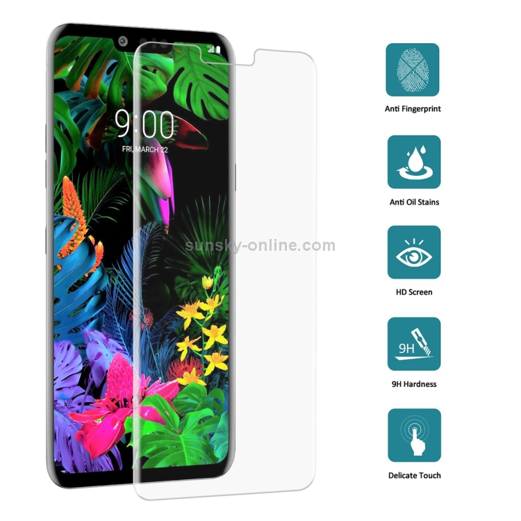 AulnerablesersYHM 25 PCS 9H 3D Transparent Full Screen Tempered Glass Film for LG G8 ThinQ Transparent