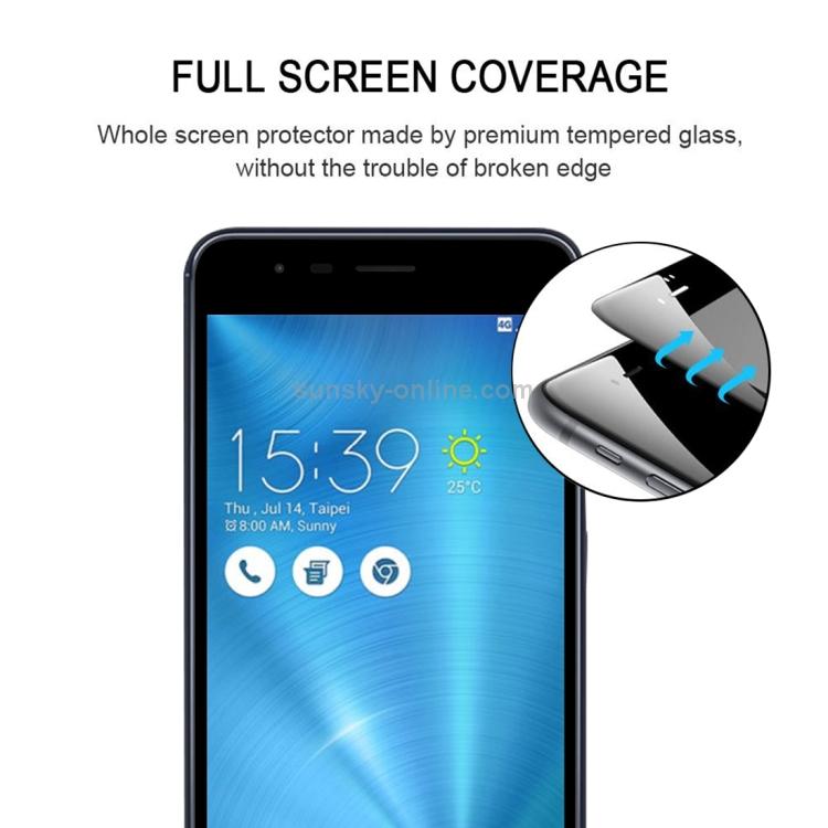 JIANGNIUS Screen Protectors 25 PCS Full Glue Full Screen Tempered Glass Film for Asus Zoom 3 ZE553KL