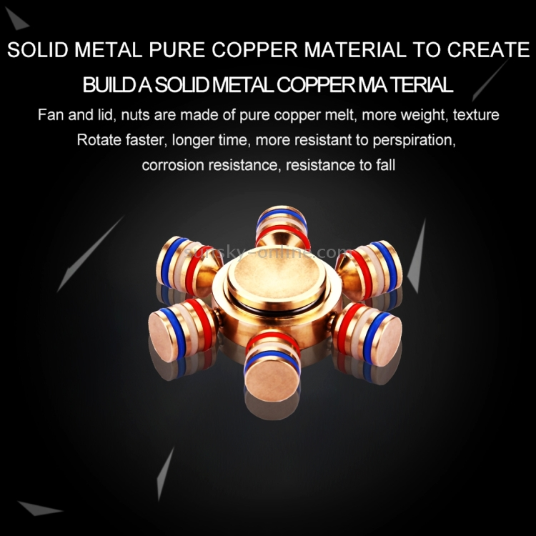 SUNSKY Metal Fid Spinner Toy Stress Reducer Anti Anxiety Toy
