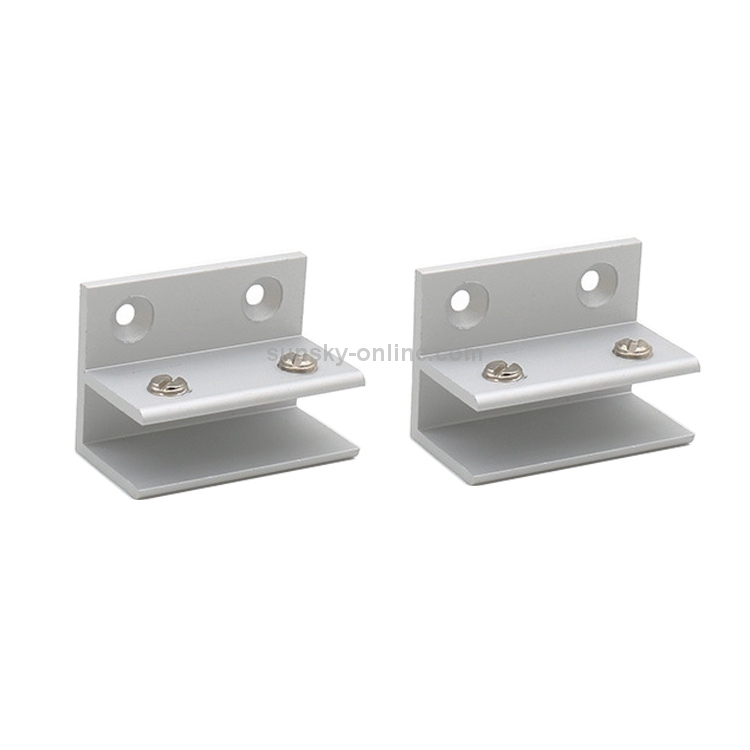 Cliped 8-10mm Fixing Clip 2 PCS Cross-type Aluminum Alloy Glass Combination Clamp Cabinet Partition Fixing Clip