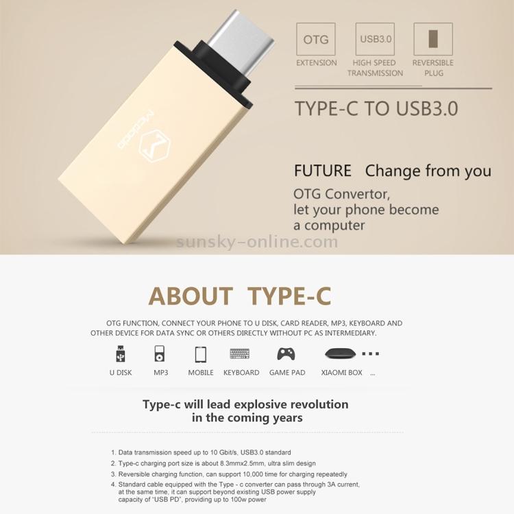 SUNSKY - Mcdodo OT-1029 Type-C to USB 3 0 AF Data