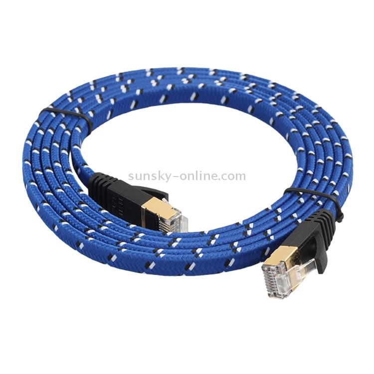 Built with Shielded RJ45 Connectors Computer cables Black Color : Black LAN cables Ethernet Cable/&Connector 5m CAT7 10 Gigabit Ethernet Ultra Flat Patch Cable for Modem Router LAN Network