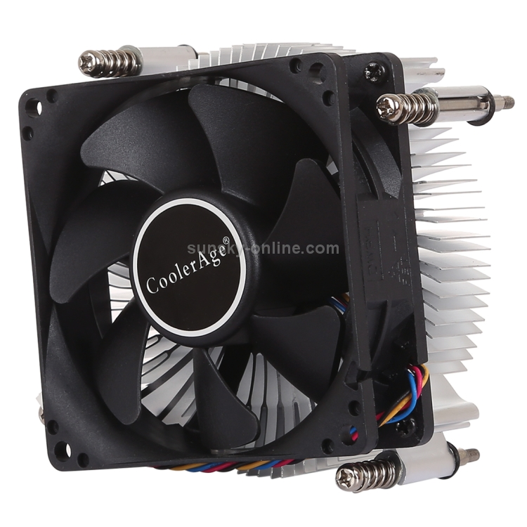 External Cooling Fans 4Pin CPU Cooler Mute Silent Fan Thickened Aluminum Heat Sink for Intel 1155//1150 1151 Computers Accessories