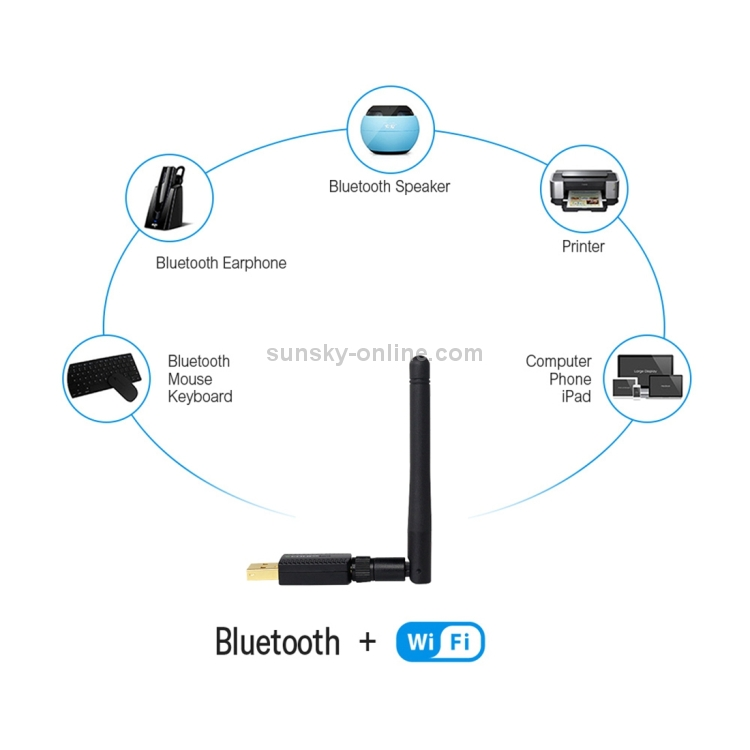 Dual Band USB WiFi Bluetooth Adapter Laptop PC Wireless Card 600Mbps EDUP AC1661
